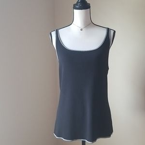 Chicos Black tank top shirt XL 3